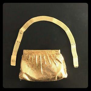 Vintage Whiting & Davis gold mesh purse